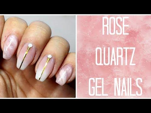 How To: Easy Rose Quartz Gel Nail Tutorial