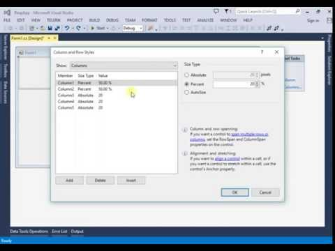 How to make responsive application in c# using visual studio 2013