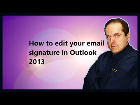 How to edit your email signature in Outlook 2013