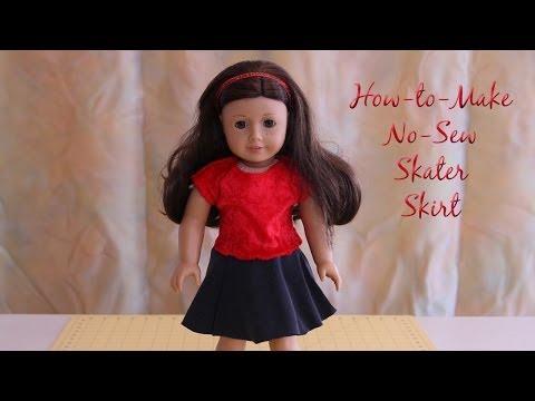 HTM AG Doll No Sew Circle Skirt