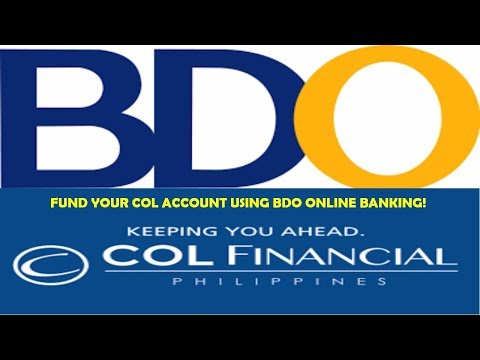 How To Fund COL Financial Account Using BDO Online Banking