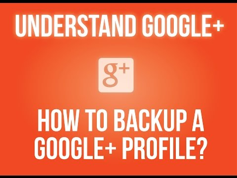 How to backup a Google+ profile?