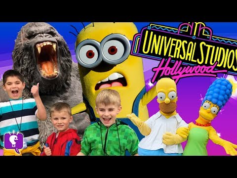 HOLLYWOOD Vacation with HobbyKidsTV! We Saw The Simpsons at Universal Studios