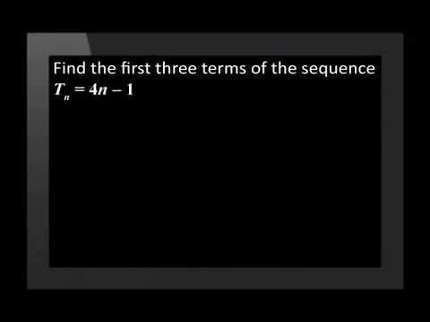 Revision of Linear Number Patterns