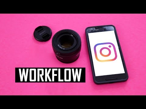 My Instagram Workflow; How To Upload Camera Photos