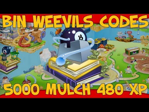 Bin Weevils 5000 Mulch and 480 XP Codes