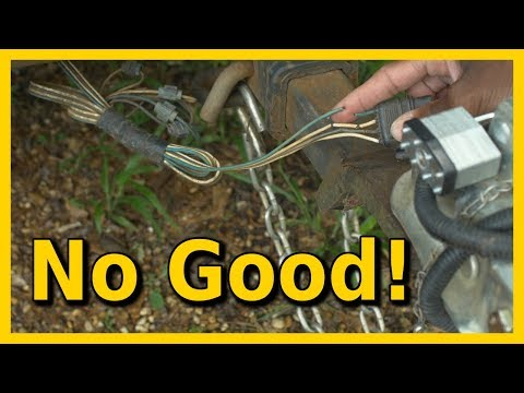 Boat Trailer Wiring With Waterproof Connectors