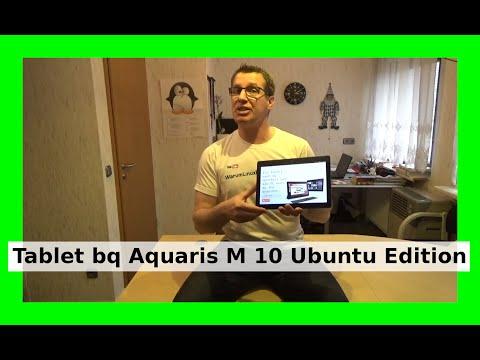 Ubuntu Tablet BQ Aquaris M10 Ubuntu Edition Unboxing erster Start Deutsch/German 2016 WLBI