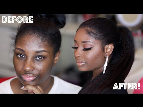 Get Ready with Me | Fresh Beat + Sleek Ponytail using Knappy Hair Extensions | Makeupd0ll