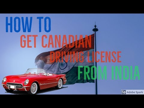How To Get Canadian Driving License  (Hindi)