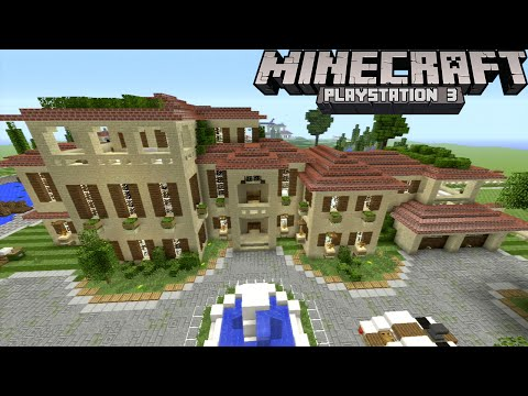 Minecraft PS3: Huge Mansion Compound! | Pools, Garden, Guest Houses, Etc.