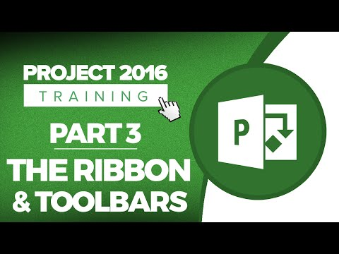 Project 2016 for Beginners Part 3: How to Use the Ribbon and Toolbars in MS Project 2016