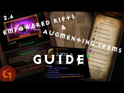Diablo 3 2.4 Guide to Empowered Rifts and Augmenting Items