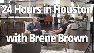 Rare Brene Brown Interview: 24 hours in Houston (Lewis Howes Vlog)