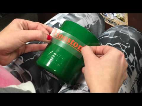How to Apply Vinyl Decal to Yeti Cup