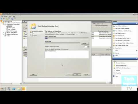 Create Mailbox Database Copies in DAG (Database Availability Group) of Exchange Server 2010