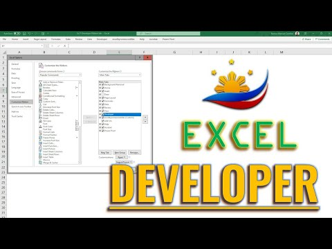 Excel Developer Ribbon Tab