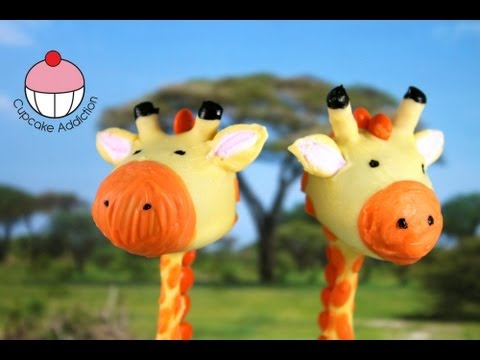 Giraffe Cakepops! Make Jungle Safari Cakepops - A Cupcake Addiction how To Tutorial