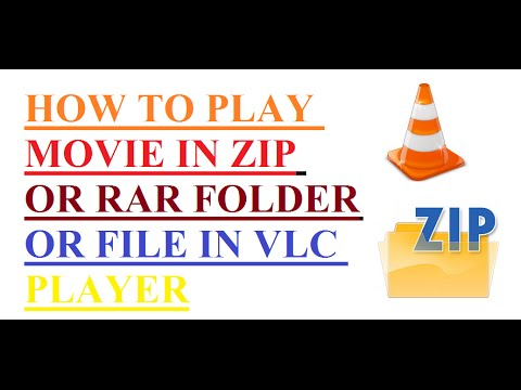 HOW TO PLAY MOVIE IN ZIP OR RAR FOLDER OR FILE IN VLC PLAYER
