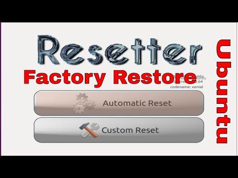 Factory Restore Ubuntu 16.04,17.04 And Mint Linux 18 || Ubuntu को कैसे restore करे।