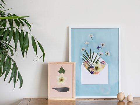 DIY: Pressed flowers in frame by Søstrene Grene