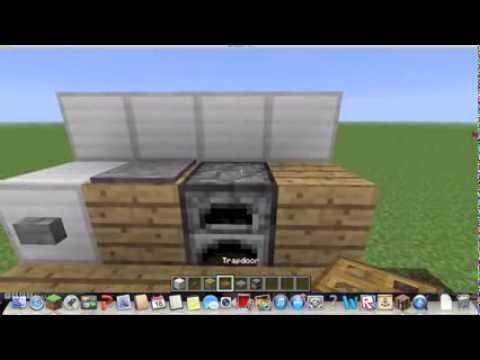 Minecraft How to make a mini kitchen