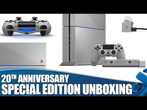 PlayStation 4 20th Anniversary Edition Unboxing #20YearsOfPlay