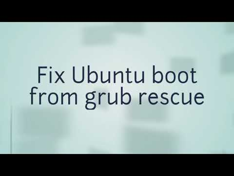 How to fix Ubuntu boot from grub rescue | without LiveCD