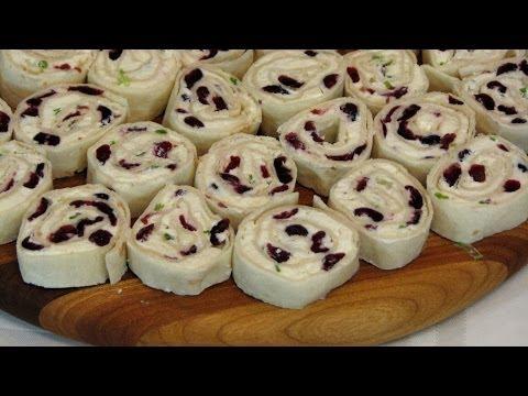 Cranberry Feta Pinwheels -- Lynn's Recipes