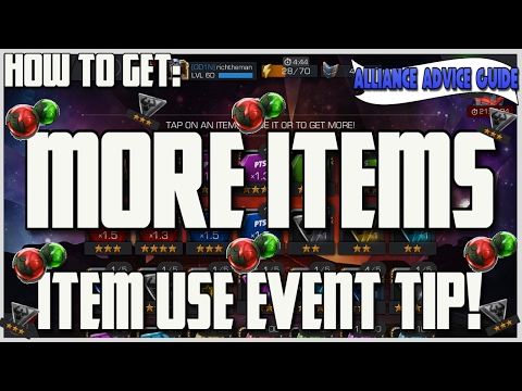 How We Get Items for Item Use - Alliance Advice [Marvel Contest of Champions]