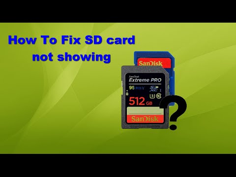 How To Fix SD card not showing