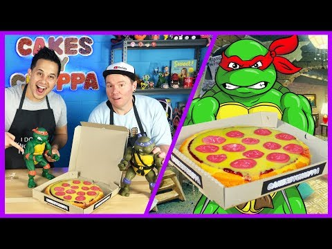 Ninja Turtle Pizza Cake HOW TO - Easy Cake Decorating for Kids ft. Jayden Rodrigues