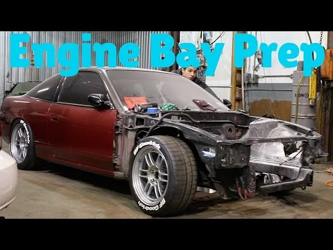 Painting 240SX Engine Bay Part 1 | Prep & Clean