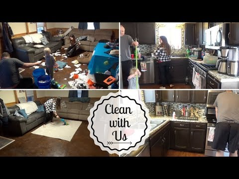 CLEAN WITH US   MESSY Cleanup After Birthday Party