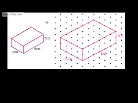 GCSE Maths - Drawing 3D Shapes Using Isometric Paper - Foundation and Higher