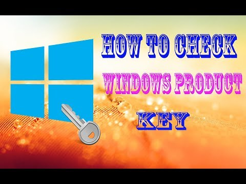 How to check windows product key
