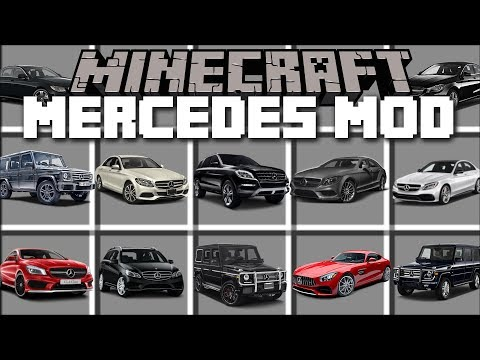 Minecraft MERCEDES MOD / DRIVE FAST CARS AND WIN THE RACE!! Minecraft