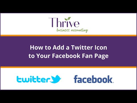How to add a Twitter Icon to your Facebook Fan Page