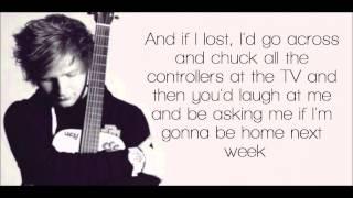 Wake Me Up Ed Sheeran Lyrics