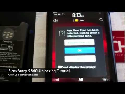 How to Unlock Blackberry Torch 9860 (9850) with Code + Full Instructions!! rogers at&t tmobile bell