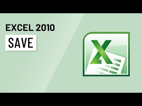 Excel 2010: Saving