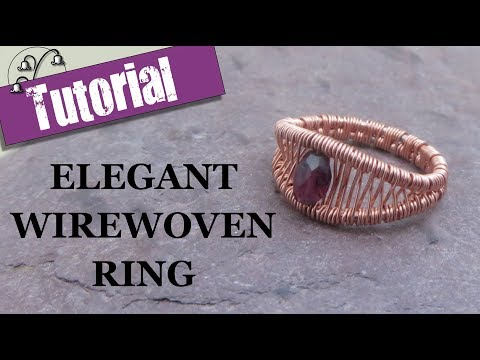 Elegant Wirewoven Ring - Wire Wrapping Tutorial