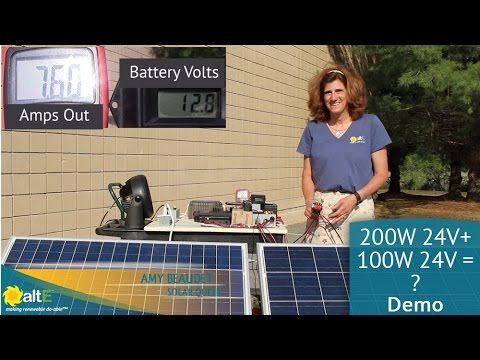 What's worse? Mismatched solar panels with different amps in series or parallel?