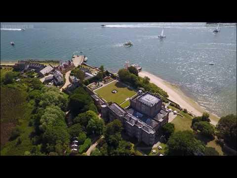 Brownsea Castle  in Poole Harbour, Dorset  -  Dji Mavic Pro drone -  Skydronauts