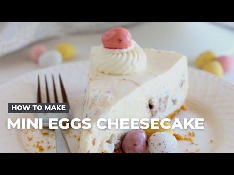 How to Make Easy No Bake Mini Eggs Cheesecake
