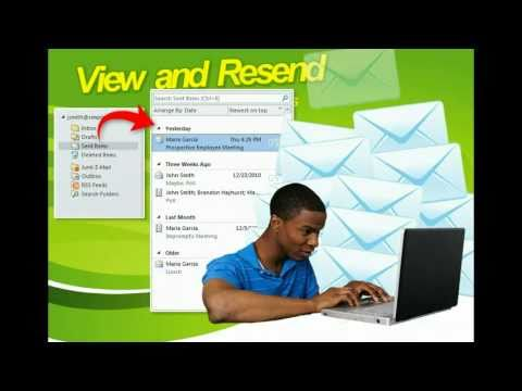 Outlook 2010 - View and Resend Sent Items - Microsoft Office 2010 Training