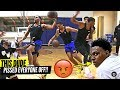 PRO BASKETBALL PLAYER DESTROYS PRIVATE D1 HIGH SCHOOL PICK UP GAME THEY WERE PISSED