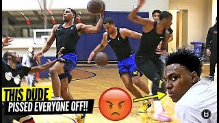 PRO BASKETBALL PLAYER DESTROYS PRIVATE D1 HIGH SCHOOL PICK UP GAME! *THEY WERE PISSED!*