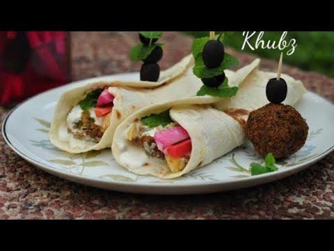 Khubz Recipe | Arabian Flat Bread Recipe | RecipesAreSimple