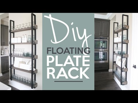 DIY Floating Plate Rack | Shanty2chic